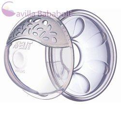 Philips AVENT Bimbókiemelő és anyatej tejgyűjtő kagyló szett SCF157/02 - 2db
