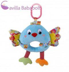 Lorelli Toys zenélő plüss játék - kék madár 32 cm