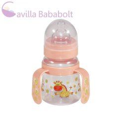 Baby Care Széles nyakú cumisüveg fogantyúval 125 ml barack