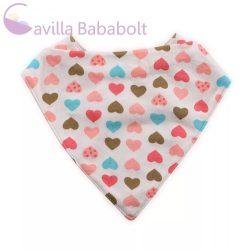Baby Care nyálkendő szívecskés