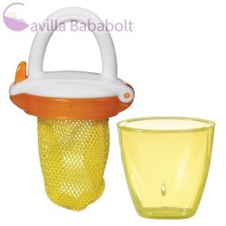 Munchkin etetőháló tárolóval - narancssárga-citromsárga
