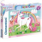 Hiszek az unikornisokban Supercolor Puzzle 104db-os Clementoni