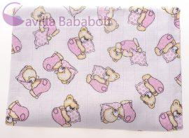 Baby Bruin tetra fürdőlepedő kifogó -mintás- 100%pamut 90x100 1 db