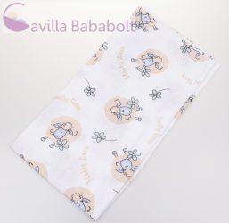 BabyBruin nyomott mintás textil pelenka, 2db - Kék bárány minta