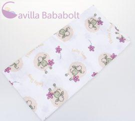 BabyBruin nyomott mintás textil pelenka, 2db - pink bárány minta