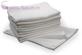 Cseh pelenka -5 db- fehér textilpelenka, 70 X 70 cm