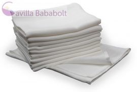 Baby Bruin 10 db Cseh pelenka - fehér textilpelenka, 70 X 70 cm