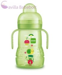 MAM Trainer tanulópohár 220ml BPA mentes 4+ Extra puha ivócsőrrel
