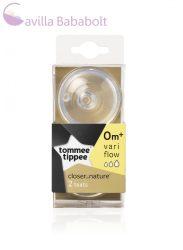 Tommee Tippee Közelebb a természeteshez BPA-mentes variábilis cumisüveg cumi (2 db) [42214041]