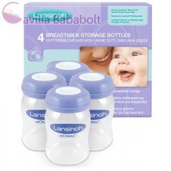 Lansinoh anyatejtároló palackok 160 ml 4 db  (5621)