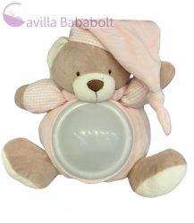 Baby Bruin  Plüss Maci éjszakai fénnyel 20cm ,pink