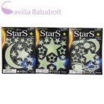 Sötétben világító hold és csillagok háromféle változatban 1db