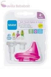 MAM Puha ivócsőr- szelepes 4+ (670084) pink