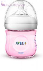 Avent SCF031/17 Natural cumisüveg 125 ml Rózsaszín