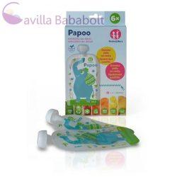 P&M Papoo tasak bébiételekhez, elefánt, 6 db