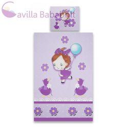 Scamp Gyermek ágynemű garnitúra ,Lila kislány 1 db paplanhuzat +1 db párnahuzat