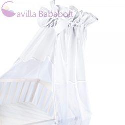 Pamut-organza univerzális baldachin kiságyra - Fehér