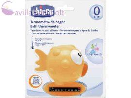 CHICCO Halacskás vízhőmérő hőre színváltós, indikátorcsíkkal 0m+, narancs