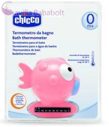 CHICCO Halacskás vízhőmérő hőre színváltós, indikátorcsíkkal 0m+, pink