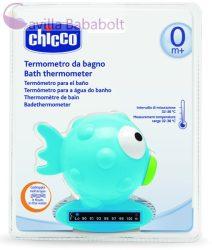 CHICCO Halacskás vízhőmérő hőre színváltós, indikátorcsíkkal 0m+, kék