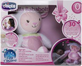 Chicco First Dreams zene-fény altató bárányka, rózsaszín