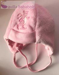 Téli koris Maci Sapka - vastag, megkötős, pink Méret: 5-ös