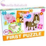 Bébi puzzle , háziállatos - Farm 4 db puzzle