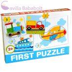 Bébi puzzle , járműves 4 db puzzle