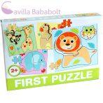 Bébi puzzle , bébiállatos baby zoo 4 db puzzle