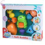 Playgo Fürdőjáték békás rozmáros fürdőjáték játéktartó hálóval