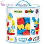 Baby Blocks Építőjáték szett 30db-os - Wader