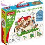 Montessori állatos pötyi játék