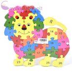 Számos fa oktató oroszlán puzzle