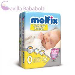 Molfix Extra Small 3 kg-ig pelenka (0-ás) (0 - 3 kg) (50 db/cs) -speciális köldökkivágással