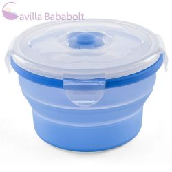 Nuvita összecsukható szilikon tál - 540 ml - kék 4468