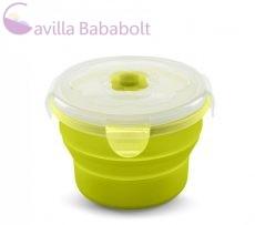 Nuvita összecsukható szilikon tál - 540 ml - zöld 4468