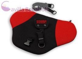 Scamp biztonsági övterelő fekete-piros színben