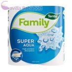 """TENTO Kéztörlő, tekercses, 2 rétegű, TENTO """"Family Super Aqua"""", fehér, 2db"""