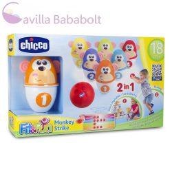 Chicco Monkey Strike - majmos bowling és építőjáték