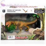 Allosaurus figura tojással és növényekkel
