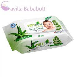 Popsitörlő Pufy Fresh Aloe Vera 72db